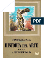 Winckelmann. Del arte entre los griegos.