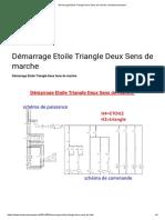 Démarrage Etoile Triangle Deux Sens de marche _ electromecanique