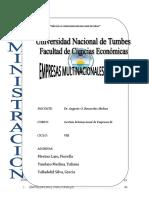 Emp. Multinac. Peruanas GESTION II