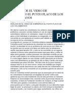 ANALISIS DE EL VIDEO DE SOBREPESO EL PUNTO FLACO DE LOS COLOMBIANOS.docx