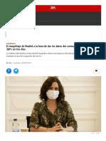 El maquillaje de Madrid a la hora de dar los datos del coronavirus