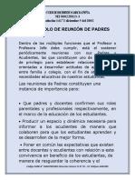 PROTOCOLO DE REUNIÓN DE PADRES