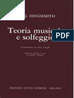Paul Hindemith - Teoria Musicale e Solfeggio - SUVINI ZERBONI 1983