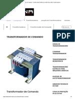 Transformador de Comando - Transformadores Elétricos em São Paulo _ Etna Transformadores