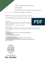 Proyecto SENADIS derecho y tecnologías