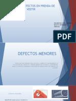 MANUAL DE DEFECTOS EN PRENDA DE VESTIR