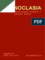 Iconoclasia. Investigaciones sobre y desde Marx