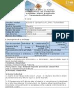 Guía de actividades y Rúbrica de Evaluación - Fase 4 - Planteamiento del problema