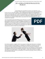 4. Influencia de las relaciones humanas en el trabajo - confianza