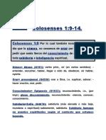 Colosenses 1 del 9 al 14
