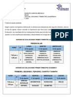 CIRCULAR  EVALUACIONES - SEGUNDO TRIMESTRE ACADÉMICO DE 2020