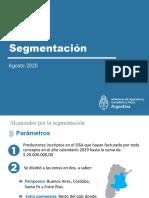 Presentación Segmentación Agosto 2020