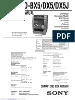 Manual de Servicio Sony HCD-DX5.pdf