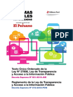 TUO - LEY DE TRANSPARENCIA Y ACCESO A LA INFORMACIÓN PÚBLICA  N° 27806