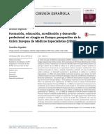 Formación, educación, acreditación y desarrollo profesional en cirugía en Europa