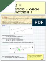 Calcul vectoriel Exercices corriges ( www.espace-etudiant.net )