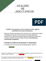 ANALISIS DE CASOS CLINICOS- DE TRIAGE.