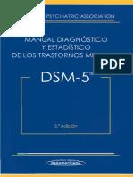 DSM 5 Manual