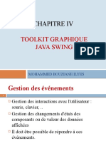 Chap IV  pptp - Toolkit graphique- Java Swing - Gestion des evenements