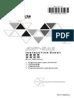 DVP-SA2 Instruction Sheet