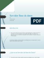 Servidor Base de datos