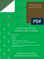 HEMATOLOGIC-DYSFUNCYION