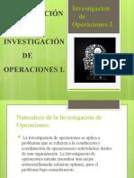 naturaleza de la investigacion de operaciones