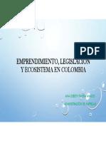 Emprendimiento, legislación y ecosistema en Colombia