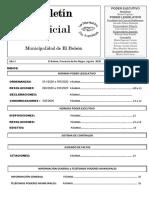 Boletín Oficial Agosto  2020 M.E.B. N° 105