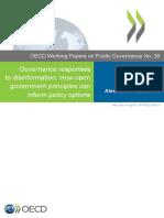 Governance responses to disinformation OECD 2020