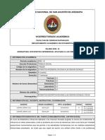 SILABO-ESTADISTICA INFERENCIAL APLICADA A LAS CIENCIAS SOCIALES (2020-B)