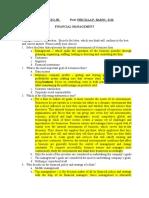 Financial Management - Exercise 1