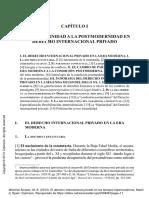 De la modernidad a la postmodernidad del DIPr - Michinel Álvarez