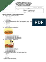 PTS Kelas 1 B Tema 2 Subtema 3 & 4