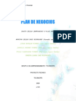 PLAN DE NEGOCIOS MARTHA C.DIAZ  Grupo 2 de emprendiemiento Tocancipá