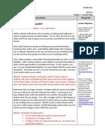 Internet Safety Design Document Scripts