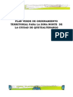 PLAN VERDE DE ORDENAMIENTO TERRITORIAL, CRECIMIENTO NORTE DE QUETZALTENANGO