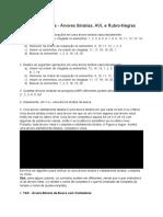 5 - Lista de Exercícios - Árvores Binárias, AVL e Rubro-Negras.docx