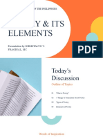 POETRY& ITS ELEMENTS