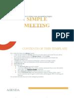 Simple Meeting by Slidesgo