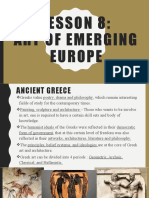 arts of emerging europe