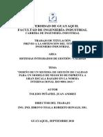 DISEÑO DE UN SISTEMA DE GESTIÓN DE CALIDAD PARA UN MODELO DE NEGOCIO DE IMPRENTA A GRAN ESCALA BASADO EN LA NORMA INTERNACIONAL ISO 9001-2015