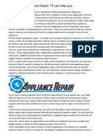 How STAR Appliance Repair TX can help youzfxgy.pdf
