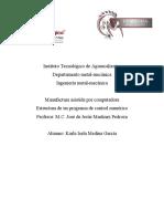 Karla Isela Medina García Estructura de un programa de control numérico (1)