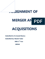ASSIGNMENT OF M&A