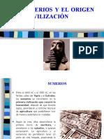 LOS SUMERIOS Y EL ORIGEN DE LA CIVILIZACIÓN.ppt