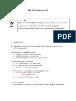 Recapitulare - Părțile de propoziție (clasa a V-a)