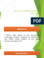 THE IMPACT OF VIDEO GAMES ON CHILDREN 0.ppt