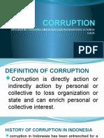 CORRUPTION SPEECH
