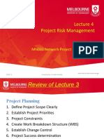 2020 T2 MN601 Lecture 4 Project Risk Management